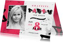 Graffiti kinderfeestje meisje creatief stoer foto lettering