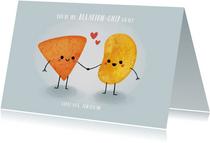 """Grappige valentijnskaart """"relation-chip goals"""" met chipjes"""