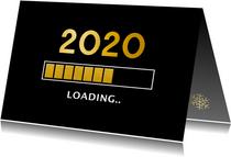 Grappige zakelijke nieuwjaarskaart 2020 loading laadbalk