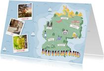 Groeten uit Duitsland met grappige landkaart en fotocollage