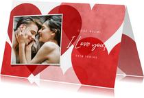 Grußkarte Liebe Herzen & Foto