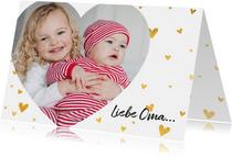 Grußkarte 'Liebe Oma' mit eigenem Foto