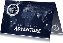 Grußkarte Reisen 'Enjoying the adventure' Fotos innen