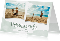Grußkarte Urlaub mit Fotos