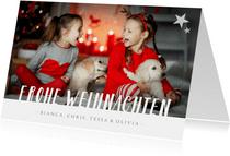 Grußkarte Weihnachten Fotomotiv