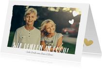 Grußkarte 'Wir denken an euch' mit Foto