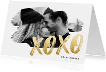 Grußkarte XOXO mit großem Foto