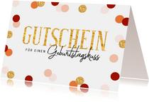 Gutschein-Glückwunschkarte zum Geburtstag