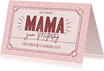 Gutscheinkarte zum Muttertag