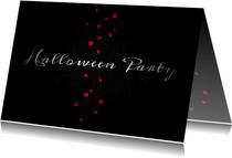 Halloween-Einladung Konfetti und Blutflecken