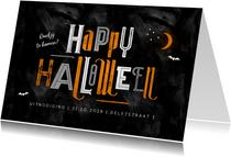 Halloween feest uitnodiging happy halloween typografie