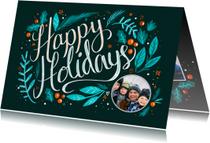 Happy Holidays met foto