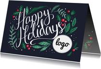 Happy Holidays met logo
