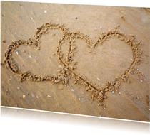Hartjes in het zand