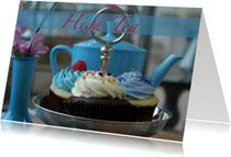 High tea blauw