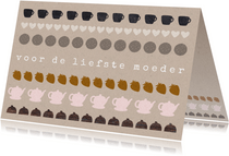 Hippe moederdagkaart craftpapier high tea