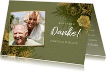 Hochzeitsjubiläum Danksagung Foto & Blumen