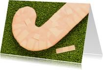 Hockey blessure met pleisters