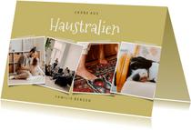 Humorvolle Urlaubskarte 'Haustralien' mit Fotocollage
