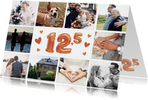 Huwelijksjubileum 12,5 jaar - Fotocollage uitnodiging koper