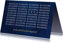 ICT Kerstkaart met binaire code en jaartal