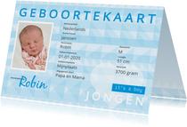 identiteitskaart geboorte jongen