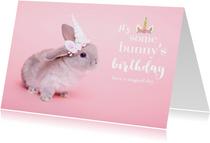 Verjaardagskaarten - It's some bunny's birthday verjaardagskaart