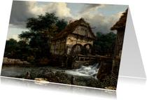 Jacob van Ruisdael.  Landschap met watermolens