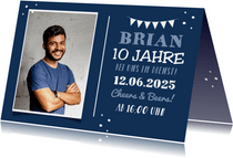 Jubiläumskarte Dienstjubiläum mit Foto