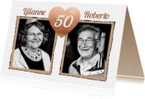 Jubileum hart 50 jaar getrouwd