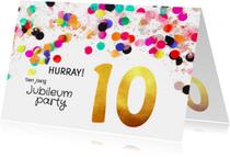 Jubileum uitnodiging 10 jaar goud