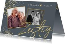 Jubileum uitnodiging 60 jaar goud hartjes foto's