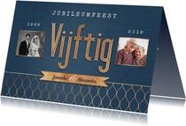 Jubileum vijftig 50 jaar vintage goud foto's