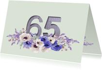 Jubileumkaart anemonen 65 jaar