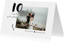 Jubileumkaart huwelijk stijlvol met eigen foto's