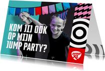 Jump XL kinderfeestje uitnodiging Jongen/Meisje
