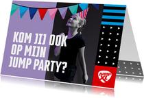 Jump XL kinderfeestje uitnodiging Meisje