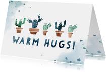 Karte Gute Besserung Warm hugs mit Kakteen