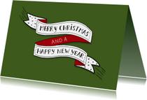 Kerst banner eigen kleur liggend