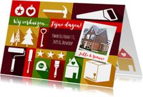 Kerst en verhuiskaart eigen foto strak