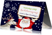 Kerst - kerstman en rendier zakelijk