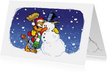 Kerst Loeki en vriendje sneeuwpop