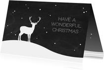 Kerst - Rendier met sneeuw