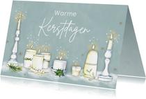 Kerst sfeervolle kaarsen