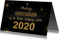 Kerst stoer en feestelijk handlettering goud glitter 2020
