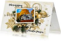 Kerst verhuiskaart 2 in 1 traditioneel - SG