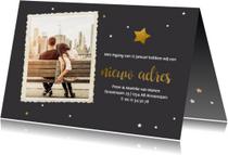 Kerst verhuiskaart met foto
