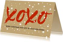 Kerst xoxo hugs and kisses voor steun