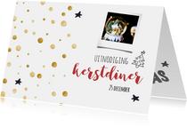 Kerstdiner goud/zwart wit