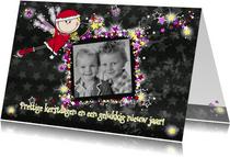 Kerstengeltje fotokaart ster